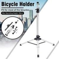 132cm Heavy Duty Aluminum Alloy Bike Repair Stand Adjustable Fold Bike Rack Holder Storage Bicycle Stand Bicycle Repair Tools