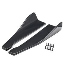 Universal 2X48cm Carbon Fiber Color modified Car Body Side Skirt Rocker Splitters Diffuser Winglet Wings Bumper