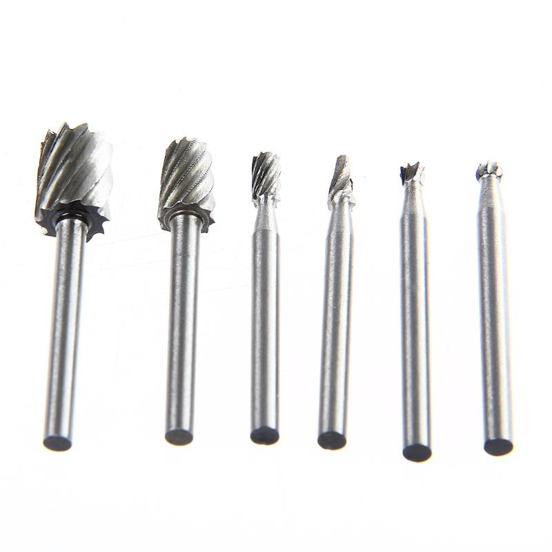 New 6pcs Hss Routing Router Grinding Bits Burr For Rotary Tool Dremel Mini O08 Dropship Abrasive Tools