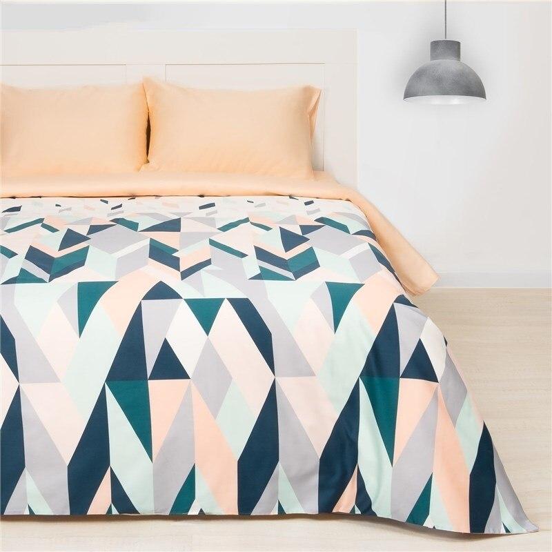 Bed Linen Ethel 1.5 CN Kaleidoscope, size 143х215 cm, 150х214 cm, 50х70 cm-2 pcs, Mako-Satin 128g/m2 bed linen ethel 1 5 cn love 143х215 cm 150х214 cm 50х70 3 2 pcs ранфорс 111g m2