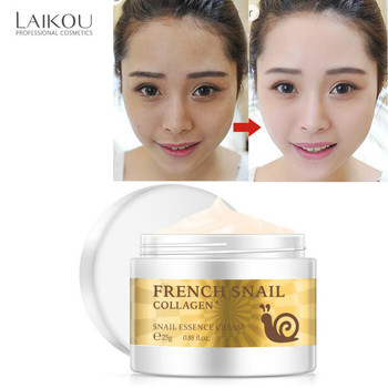 LAIKOU Snail Moist Nourishing Facial Cream Repair Brightening Hyaluronic Acid Cream Wrinkle Firming Snail Essence Face Skin Care anti wrinkle anti aging snail moist nourishing facial cream cream imported raw materials skin care wrinkle firming snail care