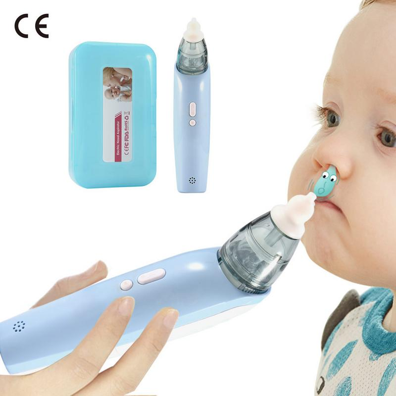 Baby Nasal Aspirator Electric Safe Hygienic Nose Cleaner With 2 Sizes Of Nose Tips And Oral Snot Sucker For Newborns Boy GirlsBaby Nasal Aspirator Electric Safe Hygienic Nose Cleaner With 2 Sizes Of Nose Tips And Oral Snot Sucker For Newborns Boy Girls