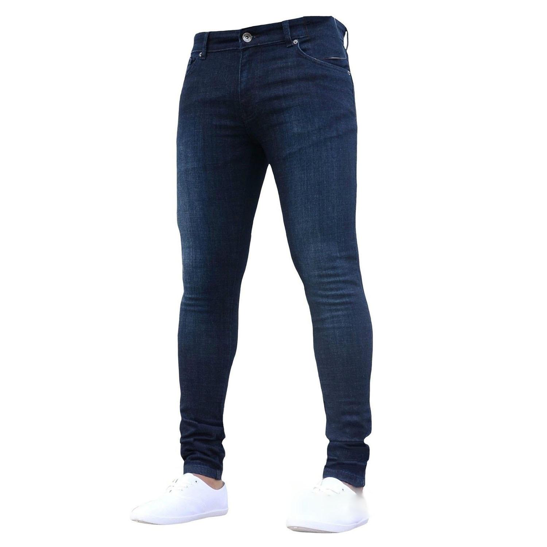 MYTL-Men Autumn Winter Fashion Casual Stretch Skinny Jeans Slim Denim Pencil Pants Leggings Trousers Plus Size