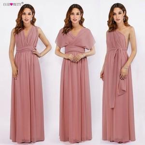 Image 1 - Long Bridesmaid Dresses Chiffon Ever Pretty Multiway Wrap Convertible Wedding Party Guest Gowns Robe Demoiselle Dhonneur Rouge