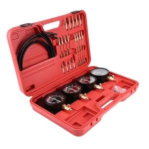 Image 2 - 4Pcs Motorcycle Fuel Vacuum Carburetor Carb Synchronizer Tool Balancer Gauge Kit New