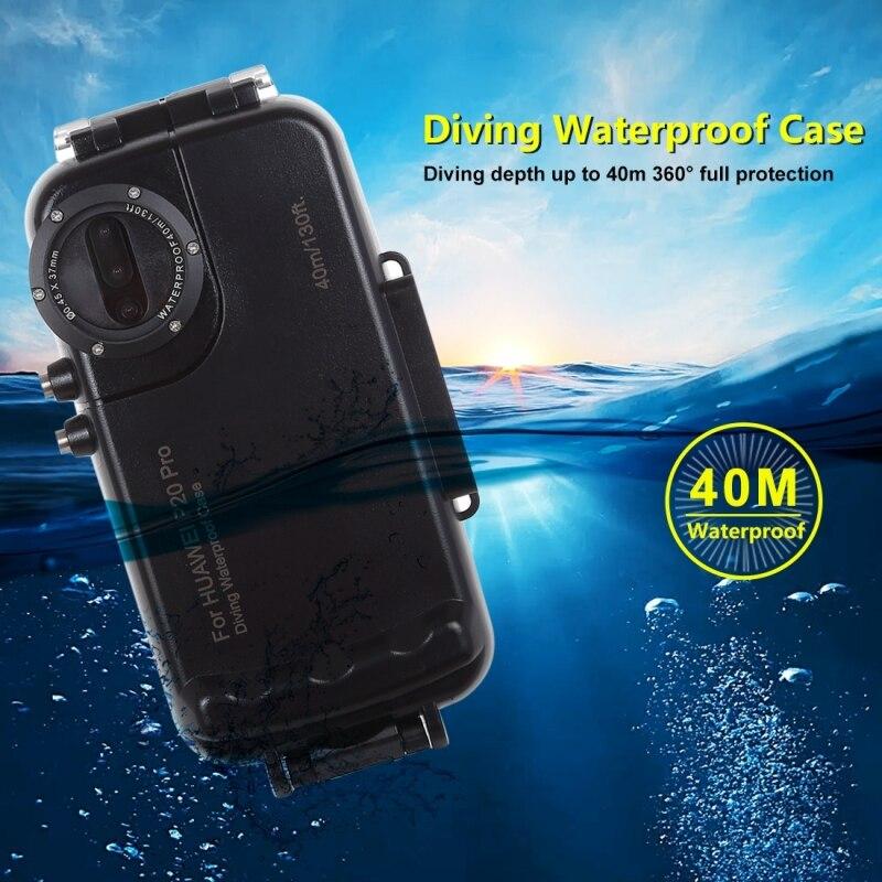 Caisson étanche de plongée professionnel pour Huawei P20 Pro boîtier 40 M vidéo prenant la couverture sous marine pour Huawei P20 Pro - 2