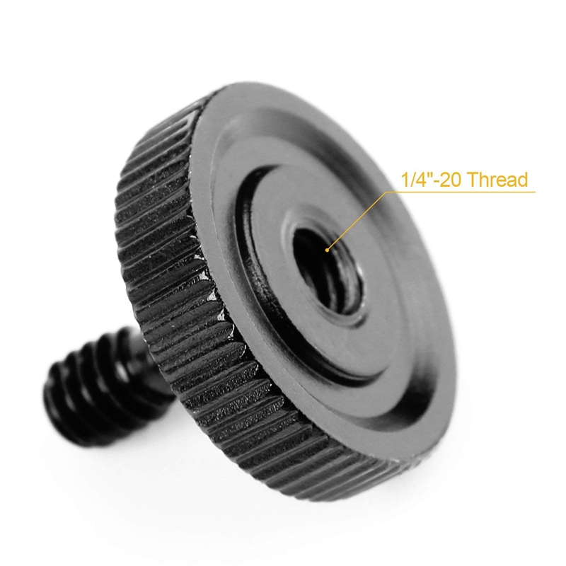 """Quick Release Thumb Screw with 1//4/"""" Female Thread for Tripod Mount Rig or L Bracket"""