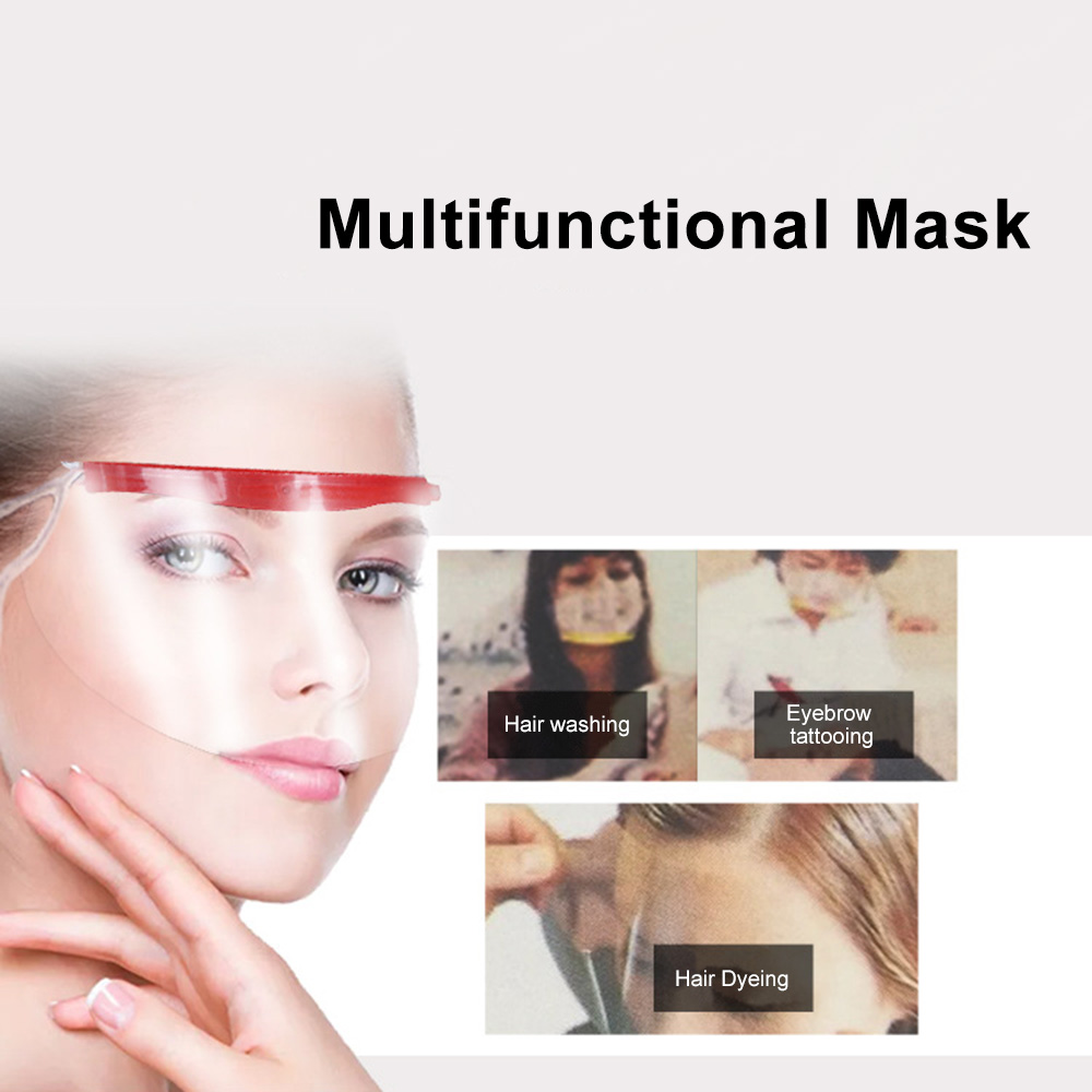 Styling Tools Bright 1pc Haircut Face Mask Hairspray Perfume Mask Shield Eyes Face Protector Plastic