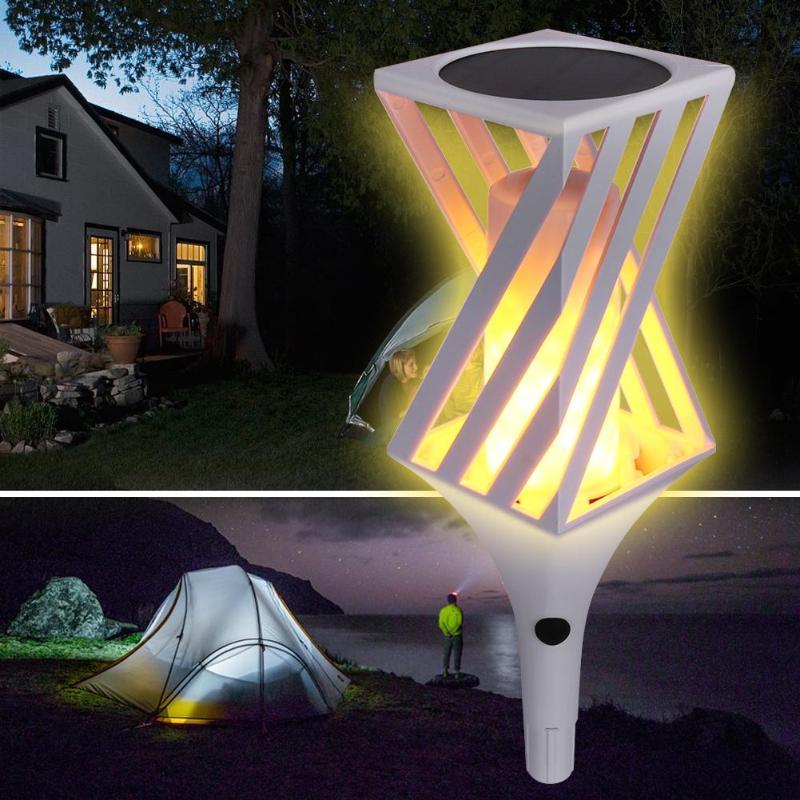 VKTECH 96LED 11LM lampe extérieure solaire imperméable à l'eau lampe scintillante lumière de pelouse (blanc) lumière extérieure de décoration de jardin pour villa de jardin