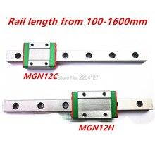 Миниатюрная линейная направляющая Kossel Mini MGN12 350 мм 12 мм с кареткой MGN12H или MGN12C для оси X Y Z, детали ЧПУ