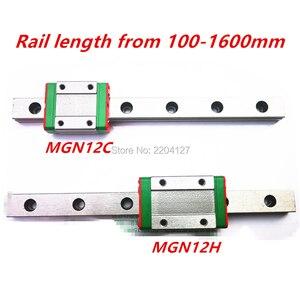 Image 1 - Миниатюрная линейная направляющая Kossel Mini MGN12 350 мм 12 мм с кареткой MGN12H или MGN12C для оси X Y Z, детали ЧПУ