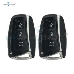 Remtekey 2 sztuk 3 przycisk 433mhz ID46 elektroniczny chip 7952 dla Hyundai Santa Fe IX45 2013 2014 nowy styl inteligentny klucz samochodowy w Kluczyki samochodowe od Samochody i motocykle na