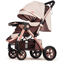 Wangbaby High View Baby Trolley Can Sit Can Lie Light Folding Summer Baby Buggy Four Wheel Baby Stroller