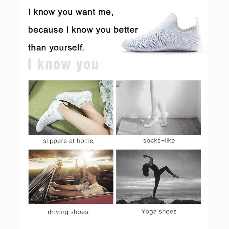 ONEMIX 2019 verano nuevos hombres mujeres Roma zapatos casuales sandalias transpirables calzado para caminar zapatillas ligero de secado rápido interior Yoga calcetín - 6