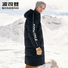 BOSIDENG new winter thicken down coat for men jacket Long outwear waterproof hooded letter print B80142563DS