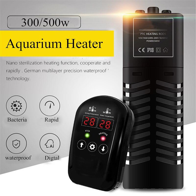 Черный 300/500 Вт аквариум нагреватель PTC Пластик Температура контроллер термостат рыбы бак нагревательных стержней водных животных инструме...