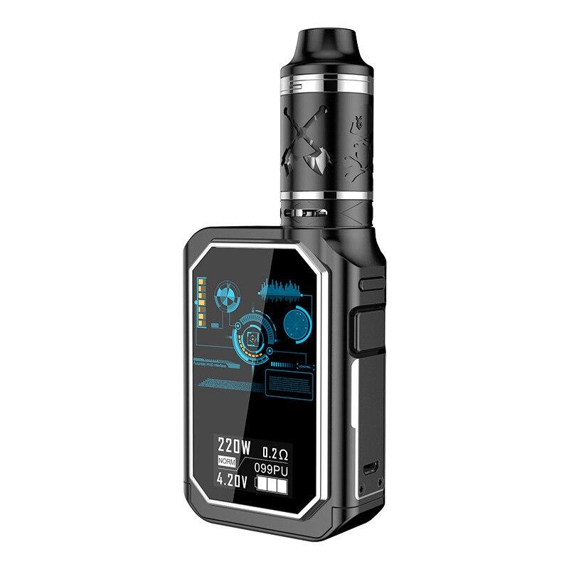 Kit de Vape X24 avec réservoir d'atomiseur 4 Ml Cigarette électronique 220 W boîte de Vape Mod Hw4 tête de bobine vaporisateur de Cigarette électronique
