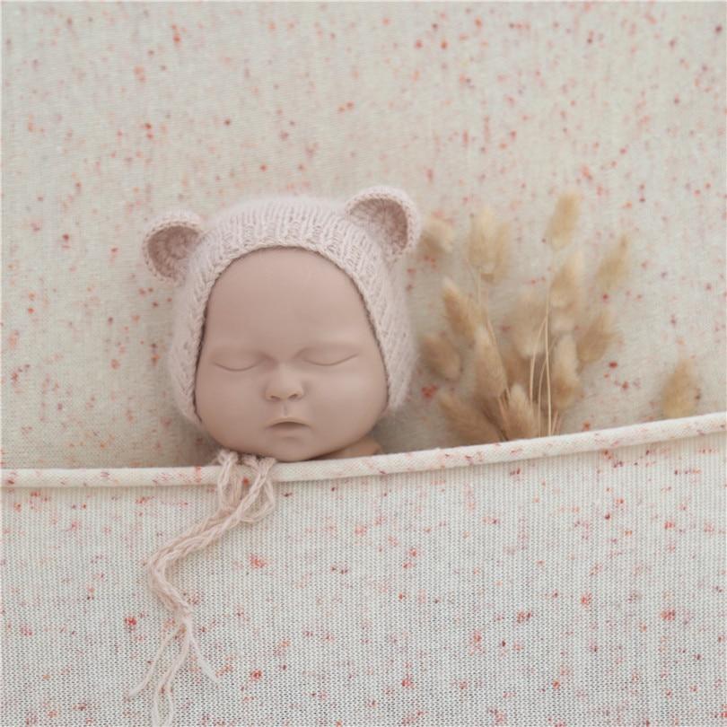150cm X 150cm Dots Stretch Backdrop Newborn Photography Backdrop Beanbag Posing Blanket Baby Soft Sweater Blanket Background