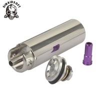 Shs tune up kit de aço inoxidável cnc moído de uma peça sólida cilindro embutido cabeça do pistão bocal airsoft paintball|Acessórios de paintball| |  -