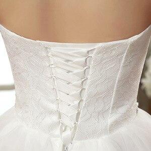 Image 5 - فساتين زفاف رخيصة الصين أنيقة الأبيض الكرة ثوب الحبيب الدانتيل مطرز بلا ظهر فستان الزفاف 2020 Vestidos De Matrimonio