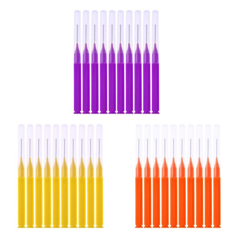 8pcs/Pack Floss Sticks Tooth Flossing Head Hygiene Dental Interdental Brush Cleaning Oral Health Plastic Toothpick Wholesale