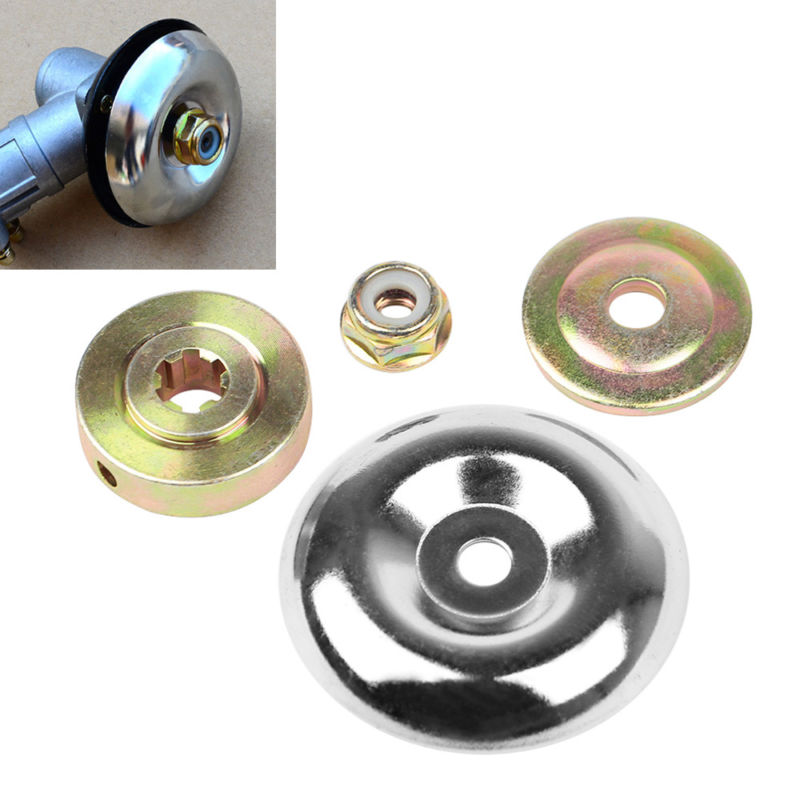 4pcs/bag Replacement Metal Gearbox Blade Nut Fixing Kit For Strimmer Brushcutter 1*Protective Cover+Upper /Lower Plate+Nut