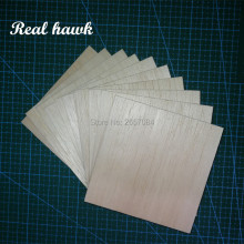 цены AAA+ Balsa Wood Sheet ply 5 Sheets 100x100x2mm Model Balsa Wood Can be Used for Military Models etc Smooth DIY  free shipping