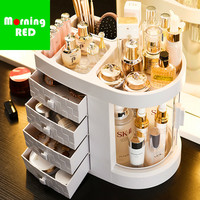 New Recommend Plastic Drawer Luxury Cosmetic Storage Box Bedroom Dressing Table Makeup Organizer Let Your Beauty with Ease