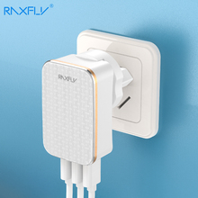 RAXFLY EU US 2 In 1 Wall Plug USB Charger For iPhone X 7 8 6 Universal Mobile Phone Fast Charging 3 Port Travel Charger Adapter стоимость