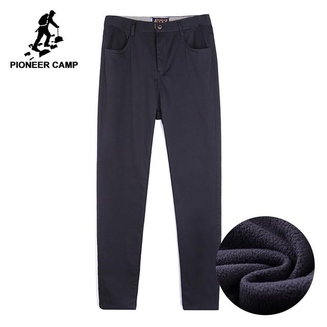 Мужские уличные повседневные штаны Pioneer Camp, зимние штаны из толстого флиса, брендовая одежда