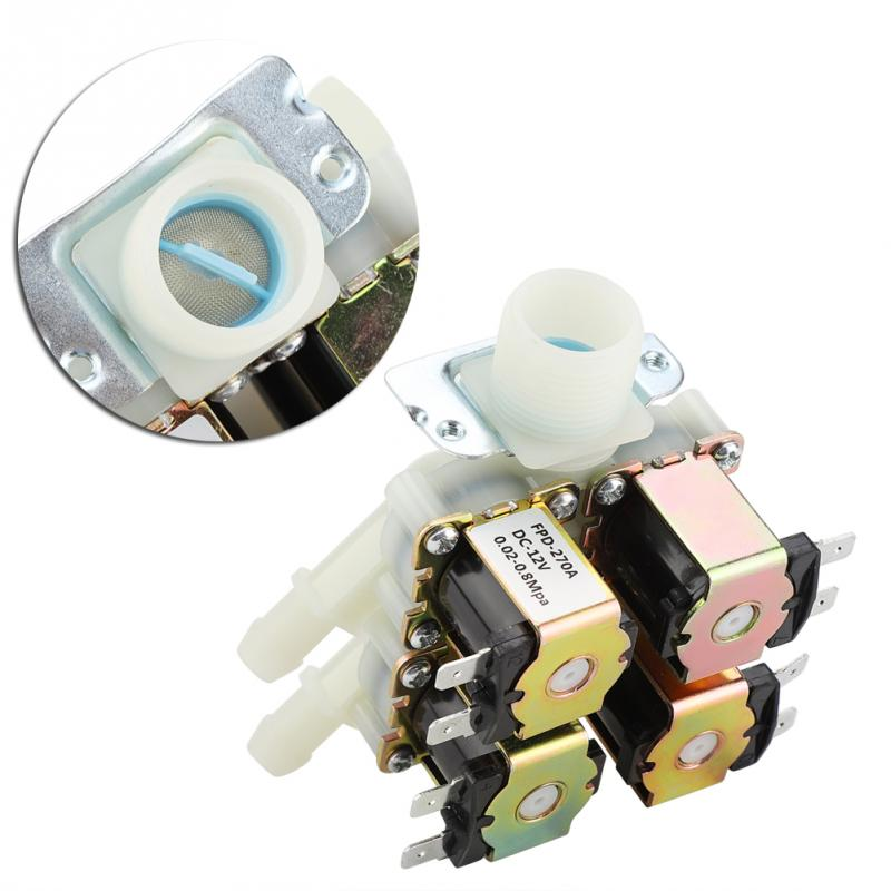 "Image 3 - DN20 DC 12V G3/4"" 1 in 4 out Plastic Electromagnetic Valve Normally Closed Water Drain Valve Electric Water Inlet  SolenoidValve   -"