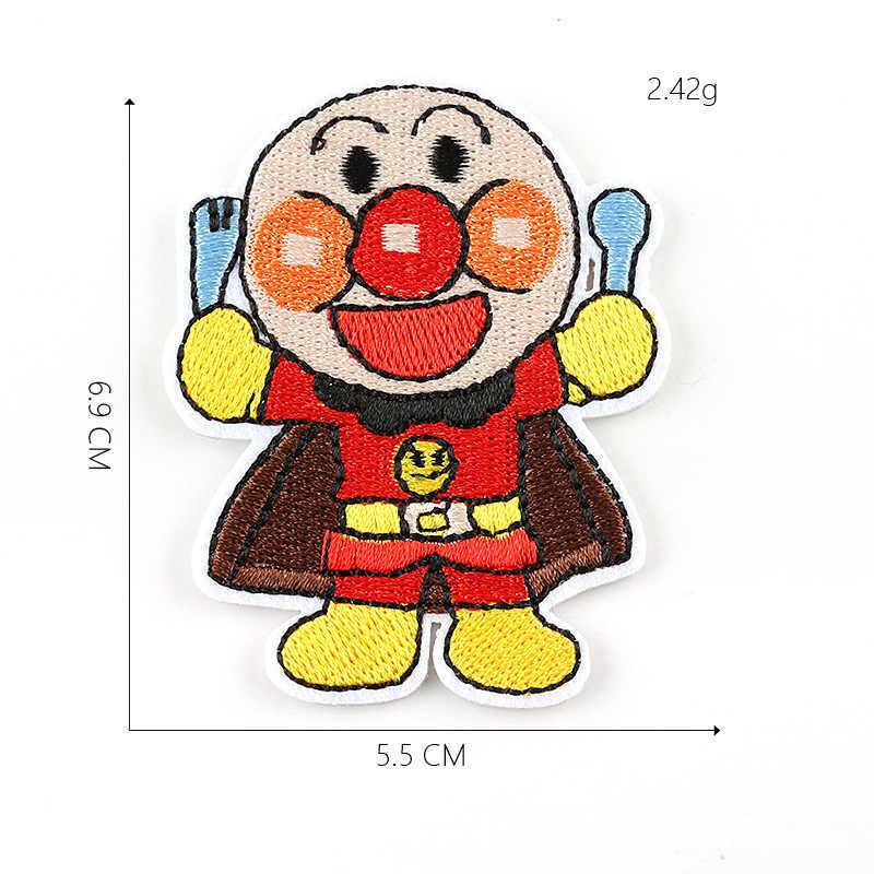 Дети мультфильм клоун аниме с рисунком Супермена, пекарни вышитые термонаклейки для Костюмы Аппликации Цветочные значки пальто обувь Parches