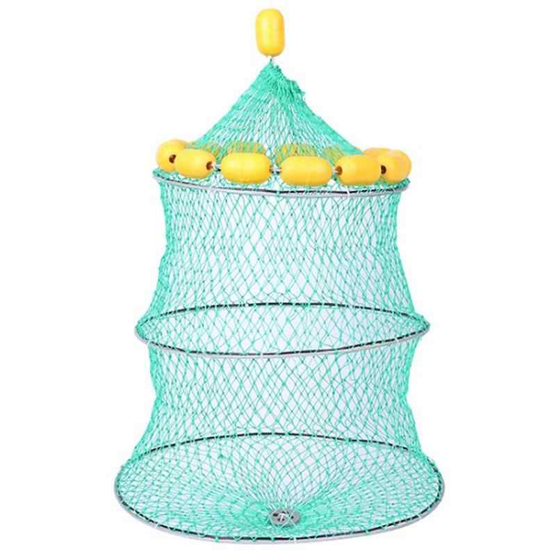 Portable Floating Ball Fish Net New Cast Mesh Cage Boat Fishing Catching Silk Material Fishing Net For Fishing Lure