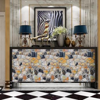 Камень 3d Креативные обои ТВ фон настенная бумага водонепроницаемый ПВХ самоклеющиеся кирпичные каменные кухонные обои рулон 10 м Qz121