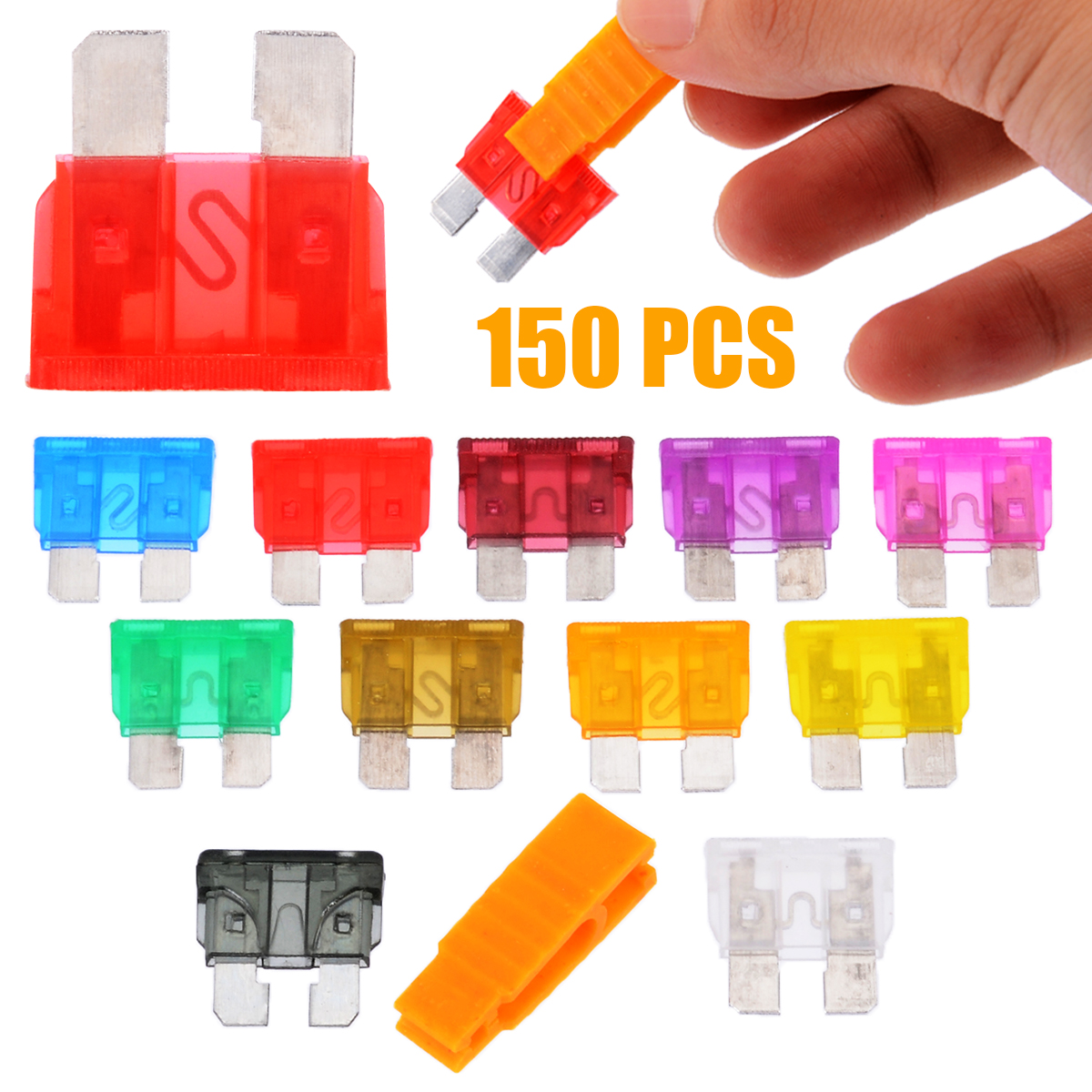 Various Amps)0.2A-20A Choose 10Pcs  5x20mm Car Fast Quick Blow Glass Fuse Clear
