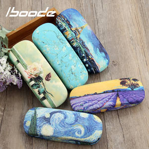 Iboode Eyewear Protector Case-Box Glasses-Case Oil-Painting Floral-Print Reading Hard