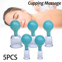 5Pcs Professional Massage Cups Family Body Massage Helper Anti Cellulite Cupping Massage Vacuum Therapy Set Health Care Kit