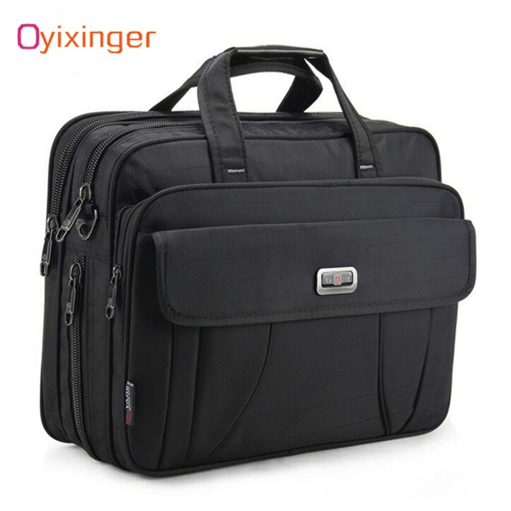 OYIXINGER Large Briefcase Business Men Shoulder Bags 15.6 Inch Laptop Bag Male Waterproof Travel Handbags Women Office Work Bag