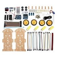 1 Set 4WD Smart Robot Car Kit High Tech Toys Bluetooth IR Obstacle Avoid Line Follow L298N ForArduino Programmable Toys DIY Kit