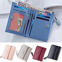 b832d10c7 Las mujeres de moda bolso de delgada cremallera de las mujeres de Damas  Cartera de PU cuero carteras mujer monedero Mini tarjeta.
