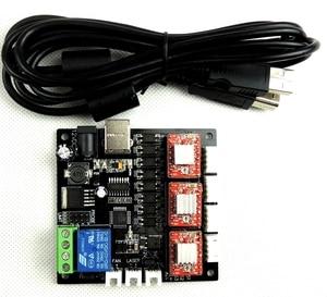 CNC 3 оси лазерная гравировальная машина полный комплект, GRBL Лазерная плата контроллера ЧПУ 3 оси плата драйвера + 3 шт. nema17 мотор + источник питания