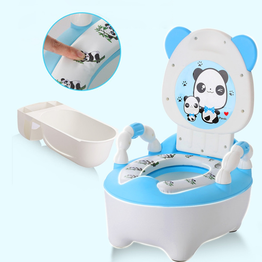 Baby Potty Toilet Bowl Training Pan Toilet Seat Children's Pot Kids Bedpan Portable Urinal Comfortable Backrest Potty Toilet