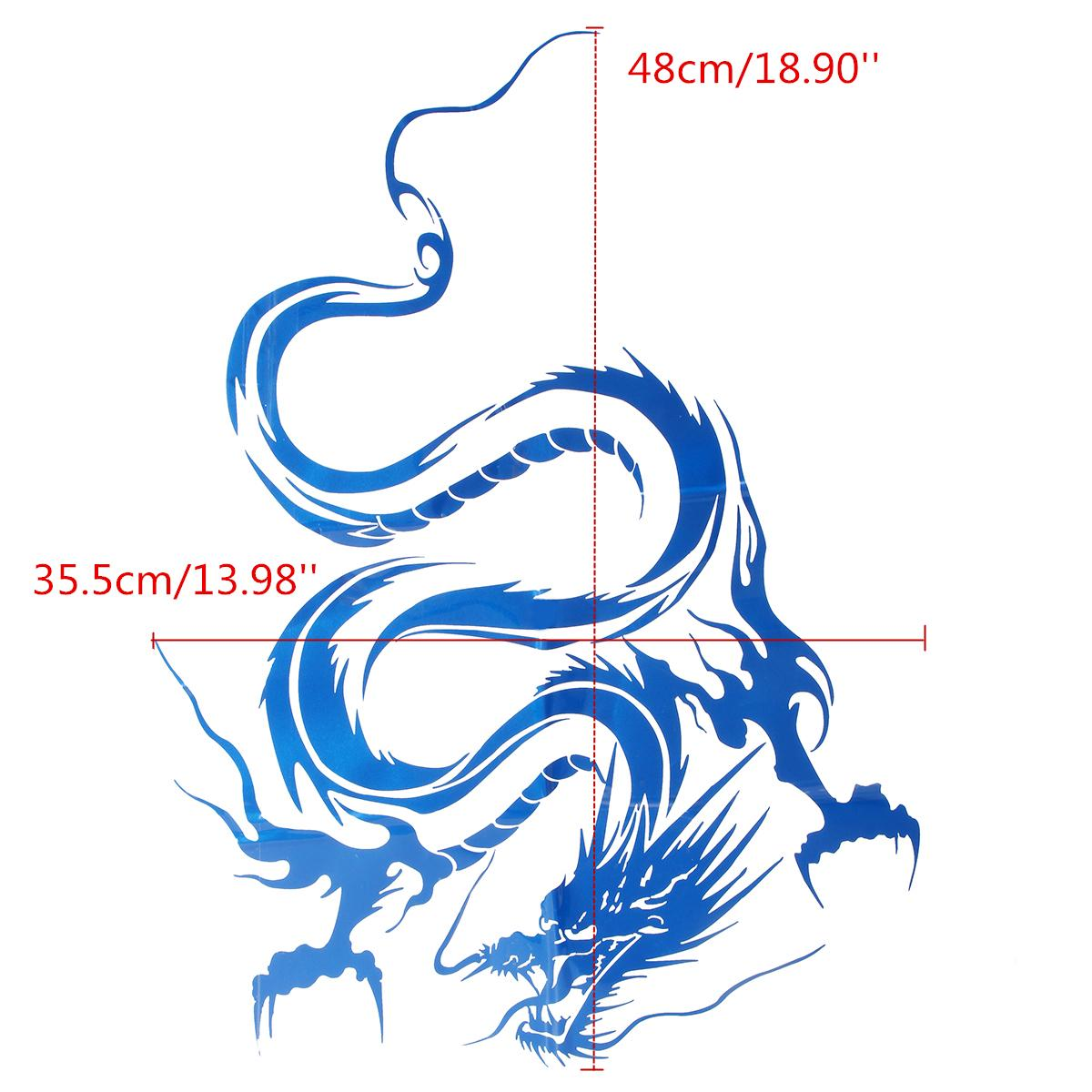 Universal  Dragon Totem Car Head Cover Sticker Personality Car Sticker Rear Block Glass Sticker Door Sticker 29