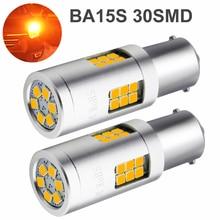9-30V 1156 BA15S LED 3030 30 SMD LED Bulbs 20W Amber Yellow for Car Auto External Turn Signal Lamp Backup Reverse Tail Lights интегральная микросхема 20 smd b rb520s 30 200mw 30v smd