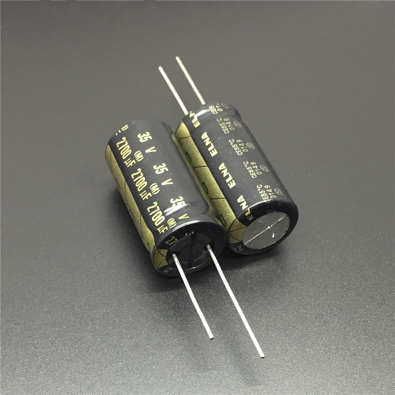 5pcs 2700uF 35V Japan ELNA 16x32mm 35V2700uF High Grade HIFI AUDIO Capacitor Black Gold