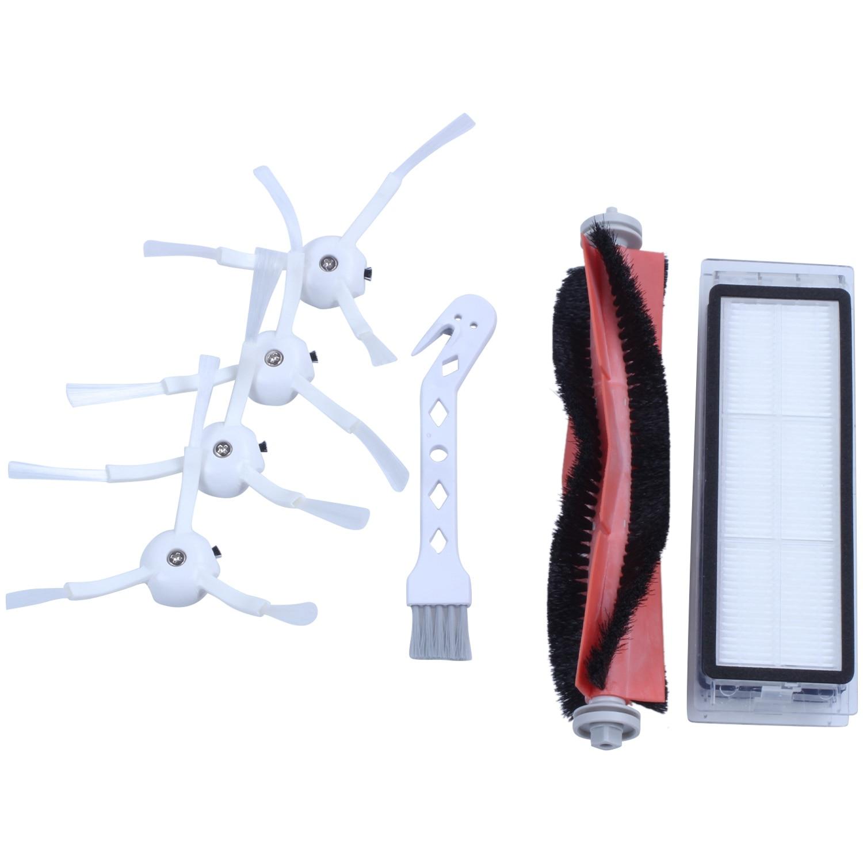 Запасные части для робота-пылесоса для Xiaomi робот-пылесос 2 roborock запасные части наборы боковые щетки HEPA фильтр ролик