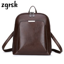 Vintage Student Backpack Famous Brand Leather Woman Backpacks For Teenage Girls Mochilas Mujer Luxury School Bags Women Rucksack joypessie brand vintage backpack mochilas travel pu leather backpack women backpacks for teenage girls school bags