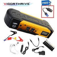 4 USB car jump starter auto booster power bank 12v emergency battery charger Multi function 3 LED light with power adapter