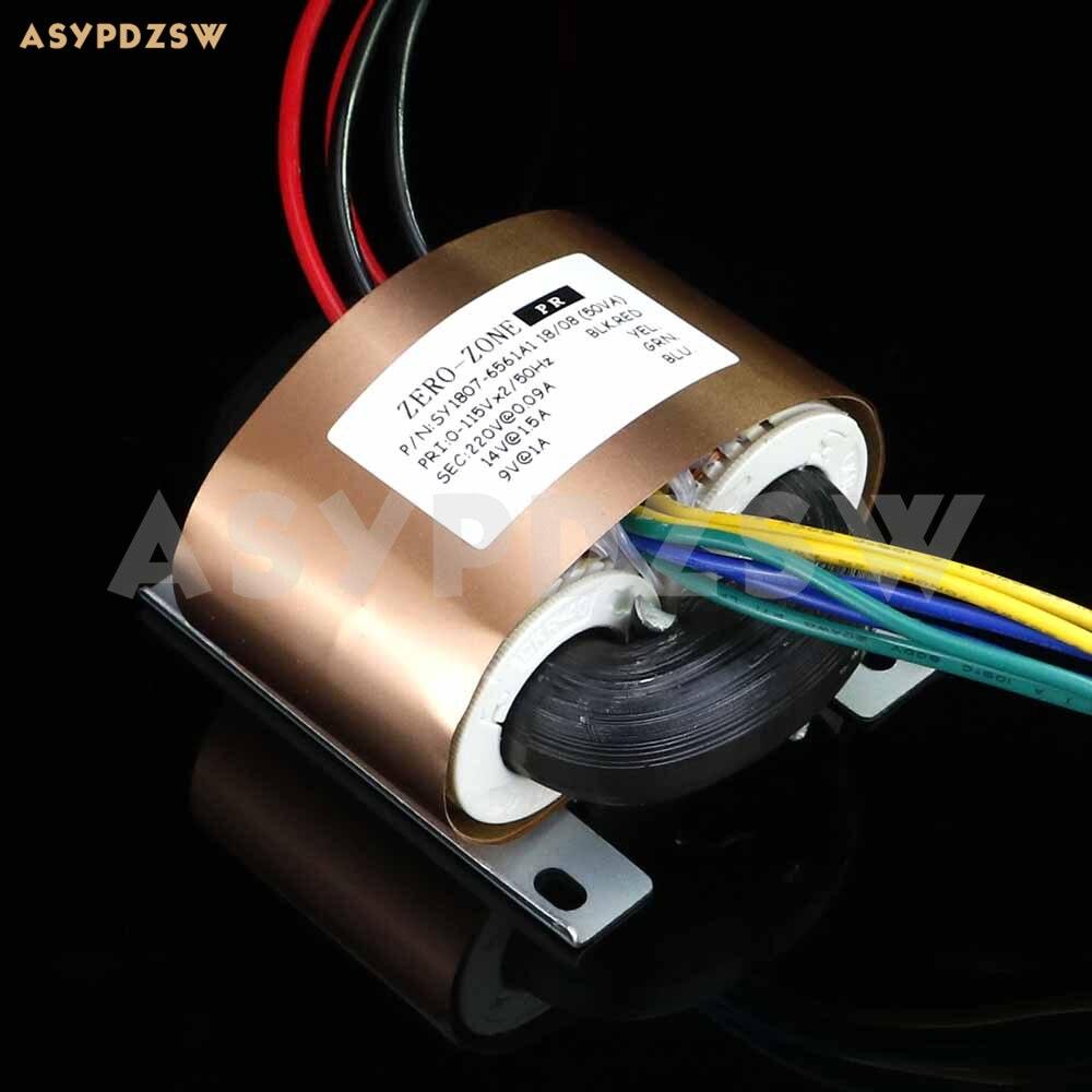 HIFI PRT08A OFC R Core transformer Output 220V 14V 9V With copper foil shield