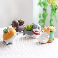 Creative idyllic lovely Koji fleshy plant flowerpot personality fleshy resin dog balcony indoor flower rack potted